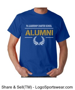 PALCS Alumni Short Sleeve Tshirt (Royal) Design Zoom