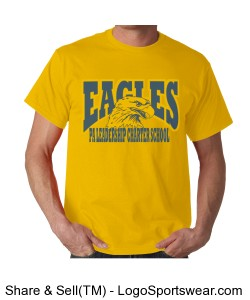 PALCS Eagles Short Sleeve Tshirt (Gold) Design Zoom
