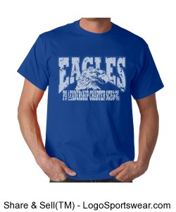 PALCS Eagle Short Sleeve Tshirt (Royal) Design Zoom