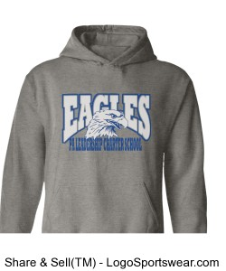 PALCS Eagle Hoodie (Grey) Design Zoom