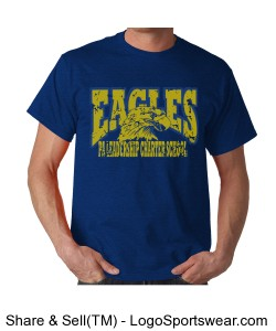 PALCS EAGLES Short Sleeve (Royal) Design Zoom
